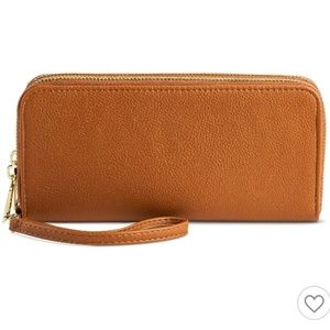 Large double zip wallet/wristlet